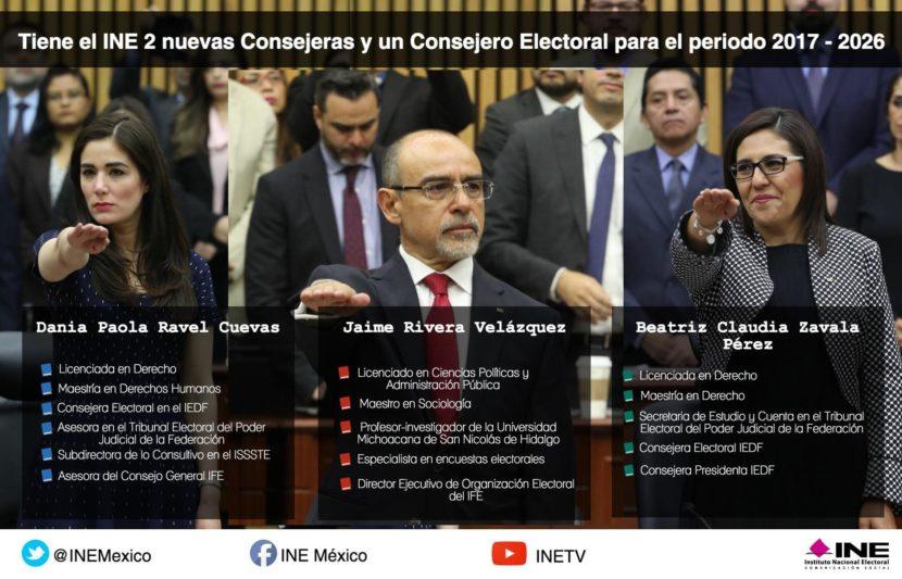 NUEVOS CONSEJEROS DEL INE RINDEN PROTESTA ANTE EL CONSEJO GENERAL