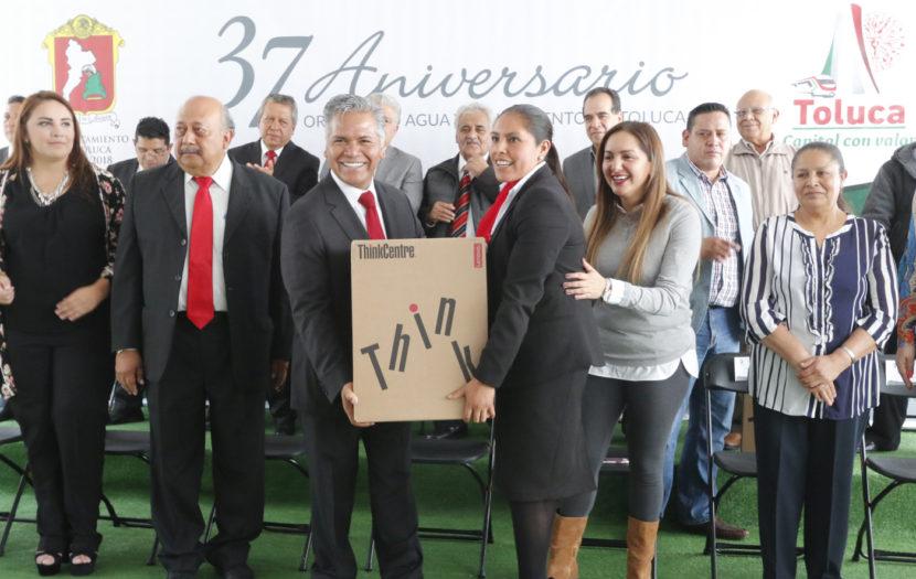 SE MODERNIZA EL ORGANISMO DE AGUA Y SANEAMIENTO DE TOLUCA EN SU 37° ANIVERSARIO