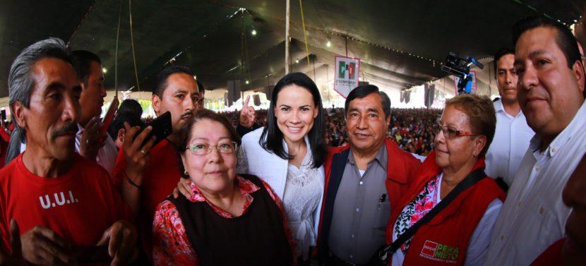 EL PRI SEGUIRÁ TRABAJANDO DE MANERA PERMANENTE POR LAS FAMILIAS MEXIQUENSES: ALEJANDRA DEL MORAL