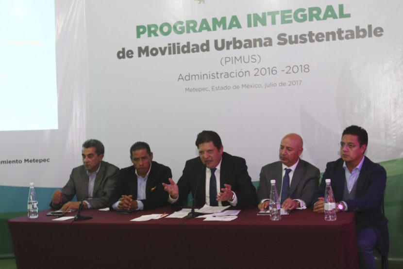 INVITA METEPEC A ENRIQUECER PROGRAMA INTEGRAL DE MOVILIDAD URBANA SUSTENTABLE