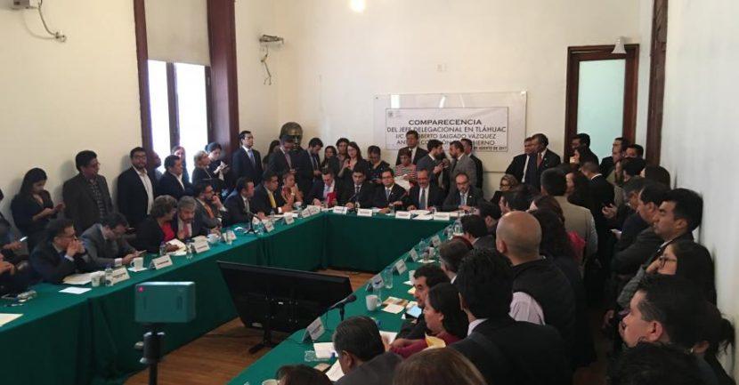 DURANTE COMPARECENCIA, DELEGADO DE TLÁHUAC NIEGA CATEGÓRICAMENTE VÍNCULO CON ORGANIZACIONES CRIMINALES