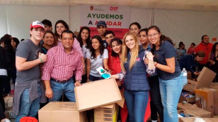 ENTREGA DIFEM 100 TONELADAS DE VÍVERES PARA MEXIQUENSES AFECTADOS POR EL SISMO
