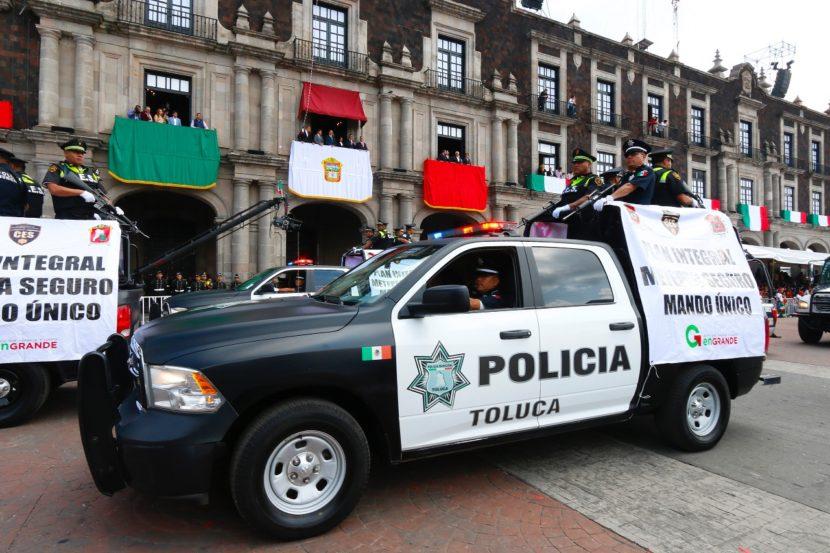AFINA POLICÍA DE TOLUCA OPERATIVO ESPECIAL PARA LAS FIESTAS PATRIAS 2017