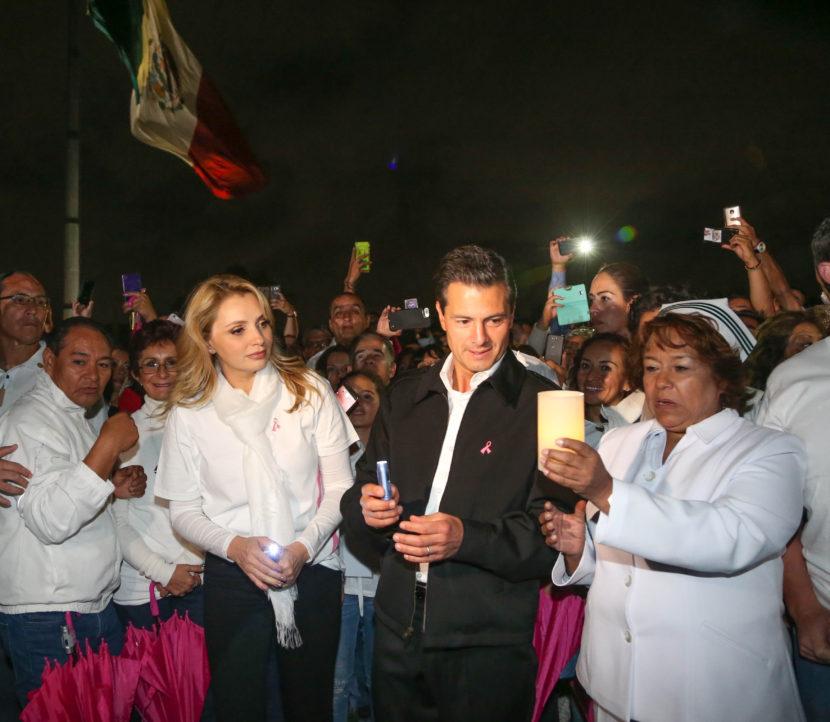 ENCABEZA EPN INICIO DE CAMPAÑA CONTRA CÁNCER DE MAMA.