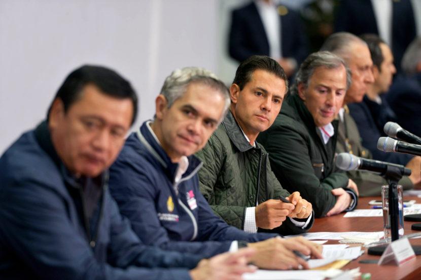 Anuncia EPN medidas para la reconstrucción de la Ciudad de México tras sismo del 19 de septiembre