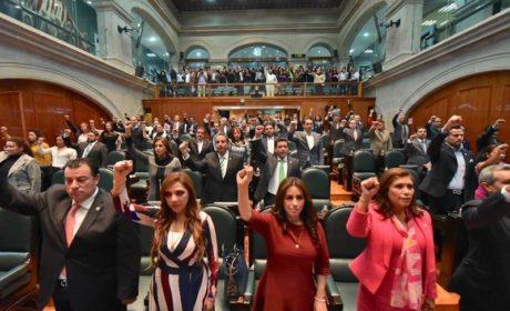 LEGISLADORES MEXIQUENSES DAN HOMENAJE A VÍCTIMAS DEL SISMO