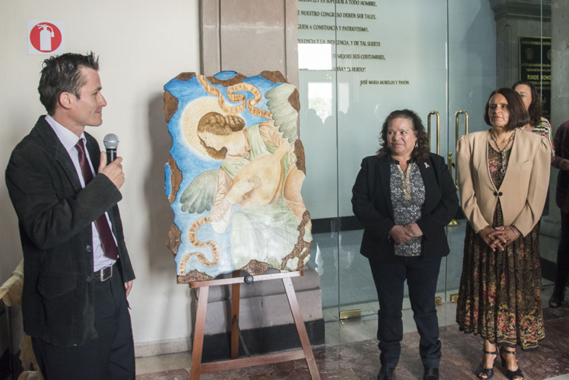 EXPONEN ARTE COLOMBIANO EN LA LEGISLATURA MEXIQUENSE