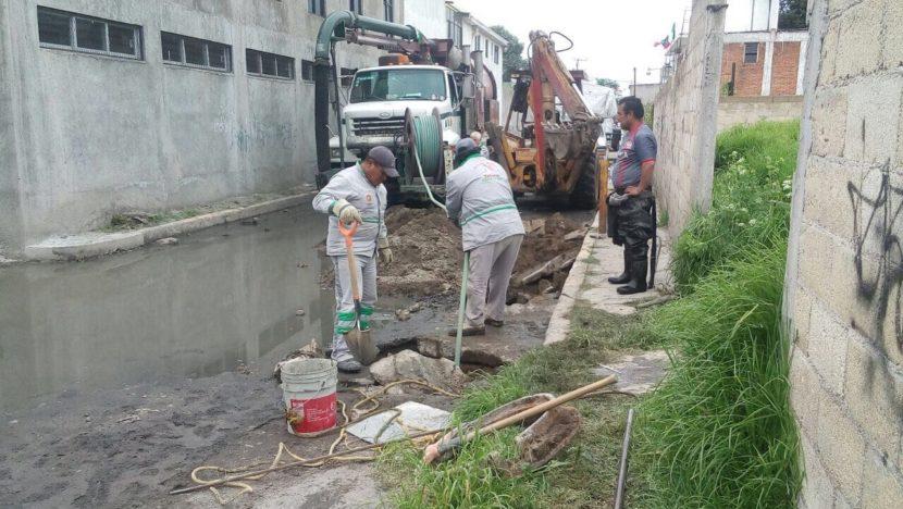 CONTINÚA ORGANISMO DE AGUA Y SANEAMIENTO TAREAS DE DESAZOLVE