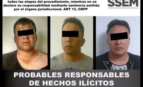 POR EL DELITO DE ROBO CON VIOLENCIA, TRES PERSONAS FUERON DETENIDAS EN IXTAPALUCA