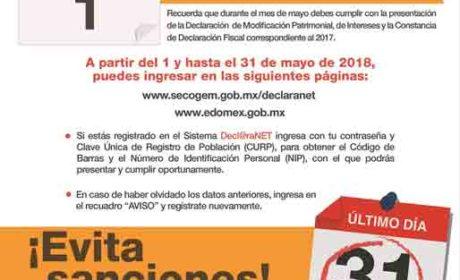 REALIZARÁN SERVIDORES PÚBLICOS DECLARACIÓN 3 DE 3