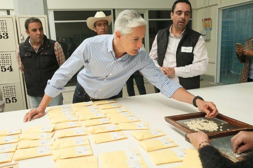 SE REÚNE GOBERNADOR MEXIQUENSE CON PRODUCTORES DE MAÍZ