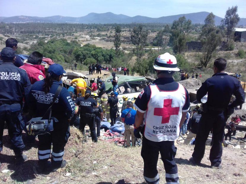 CUATRO HERIDOS EN ACCIDENTE OCURRIDO EN LA CARR TEXCOCO – CAPULALPAN