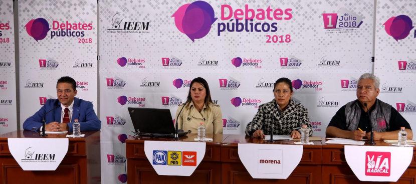 EN COMPLETO ORDEN SE REALIZÓ EL DEBATE A LA PRESIDENCIA DE NOPALTEPEC