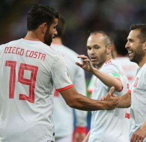 ESPAÑA SE IMPUSO 1 - 0 A IRÁN CON GOL DE DIEGO COSTA