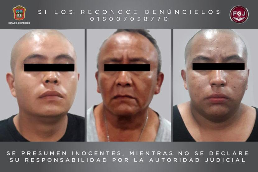 DETIENE FISCALÍA ESTATAL A TRES PROBABLES HOMICIDAS EN ECATEPEC