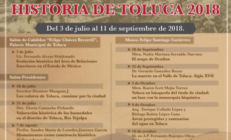 CICLO DE CONFERENCIAS HISTORIA DE TOLUCA 2018