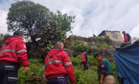 PROTECCIÓN CIVIL DE TOLUCA SUPERVISA VIVIENDAS EN RIESGO EN CALIXTLAHUACA
