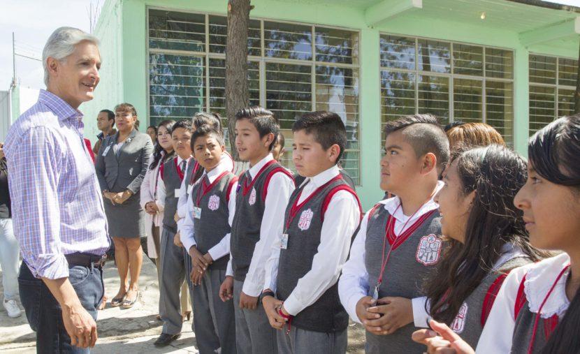 SUPERVISA GOBERNADOR DE EDOMÉX INSTALACIONES DE PLANTELES EDUCATIVOS
