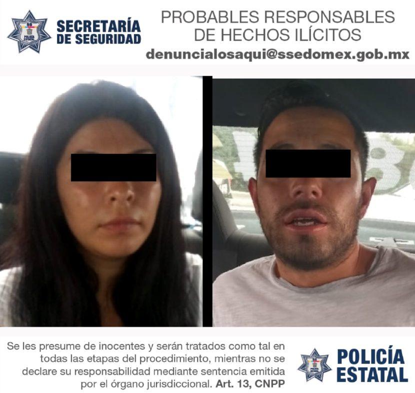 DETIENE SECRETARÍA DE SEGURIDAD A DOS PERSONAS PROBABLEMENTE DEDICADAS AL ROBO A CUENTAHABIENTES