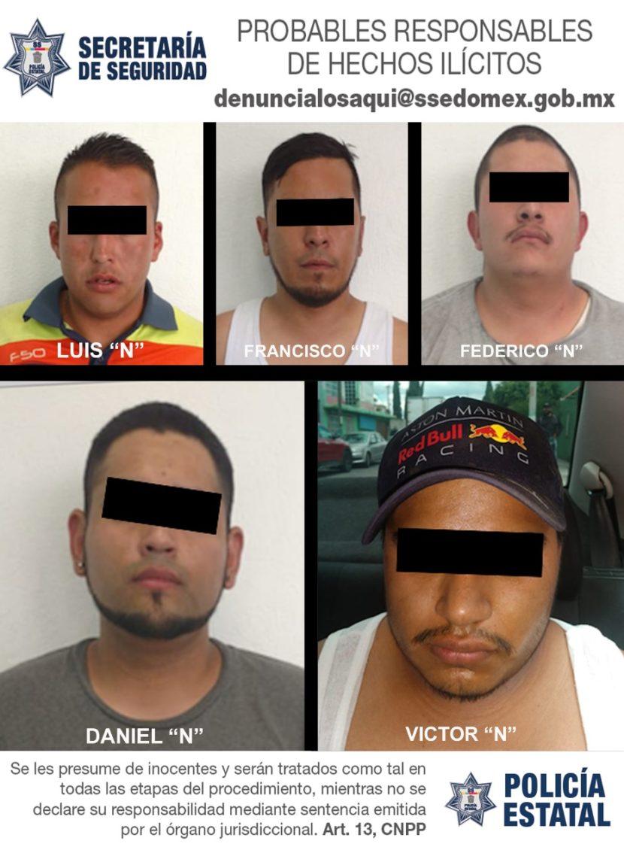 DETIENEN A CINCO PERSONAS EN POSESIÓN DE MERCANCÍA PROBABLEMENTE ROBADA