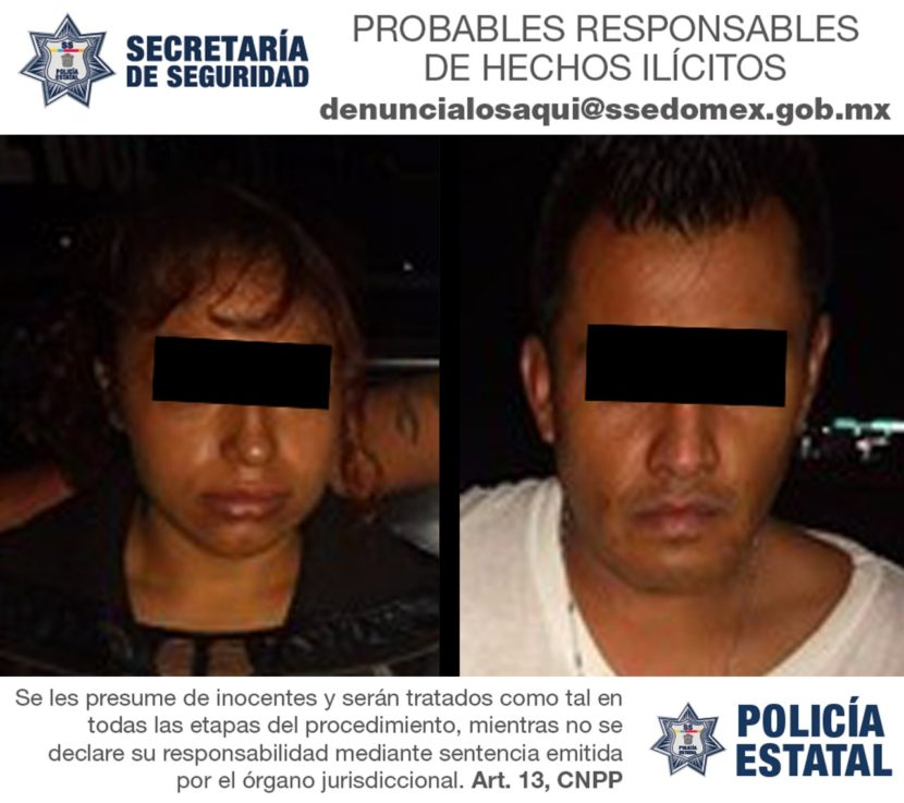CAPTURA SECRETARÍA DE SEGURIDAD A DOS PROBABLES NARCOMENUDISTAS