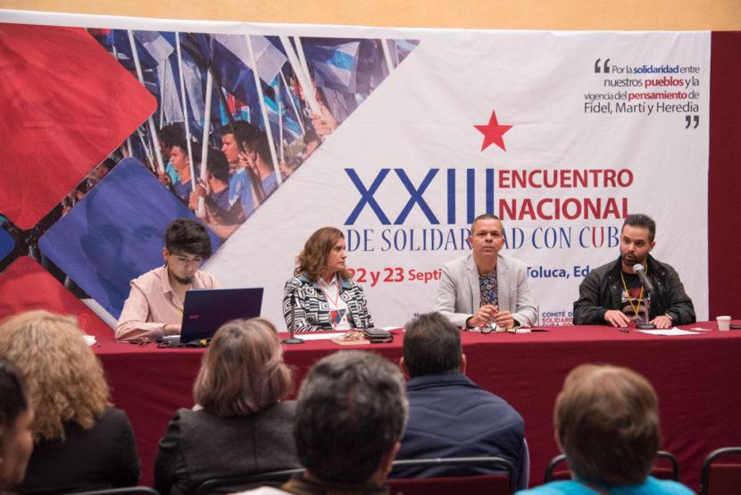 XXIII ENCUENTRO  NACIONAL DE SOLIDARIDAD CON CUBA TUVO SU SEDE EN EL RECINTO LEGISLATIVO ESTATAL