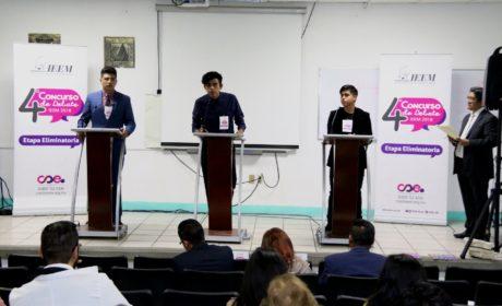 12 UNIVERSITARIOS PARTICIPARÁN EN FINAL DE DEBATE DEL IEEM