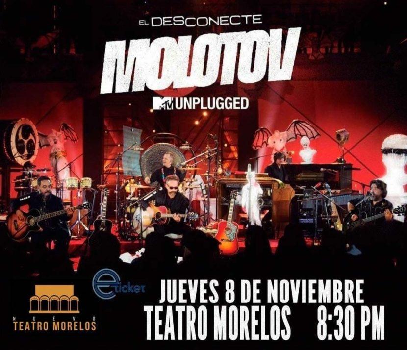 """MOLOTOV LLEVARÁ SU """"DESCONECTE"""" AL TEATRO MORELOS, EN TOLUCA"""