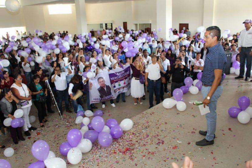 Recibieron maestros en sus casas a Manuel Uribe, candidato a la Secretaría General de SMSEM