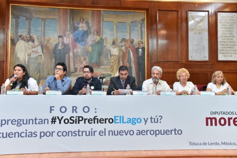 ABORDAN DIPUTADOS DE MORENA Y ESPECIALISTAS IMPACTO AMBIENTAL DEL NAIM
