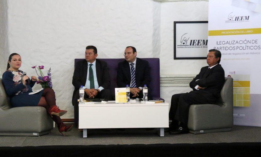 PRESENTAN EN EL IEEM LIBRO ILEGALIZACIÓN DE LOS PARTIDOS POLÍTICOS