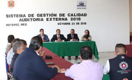 METEPEC CERTIFICARÁ 65 PROCESOS BAJO NORMA ISO 9001:2015