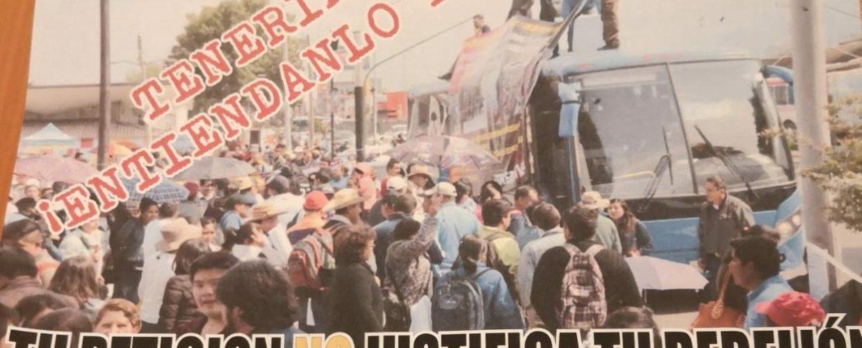 DESDE AVIONETA, ARROJAN PROPAGANDA EN CONTRA DE NORMALISTAS DE TENERÍA