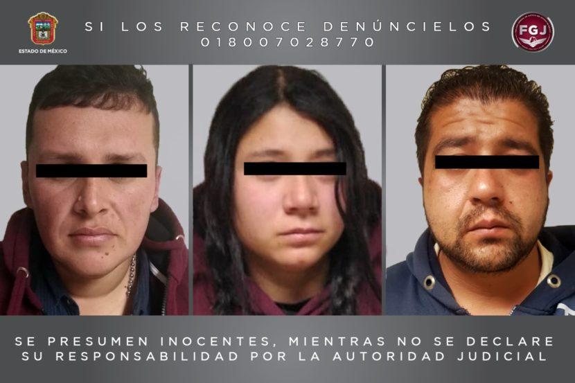 DETIENEN EN TOLUCA A TRES PERSONAS, DOS DE ELLOS COLOMBIANOS, PRESUNTOS EXTORSIONADORES