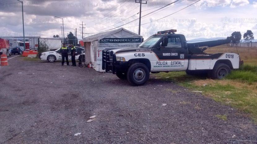 INSTALA SECRETARÍA DE SEGURIDAD MÓDULOS DE ATENCIÓN DEL PROGRAMA PAISANO, POR PUENTE LARGO