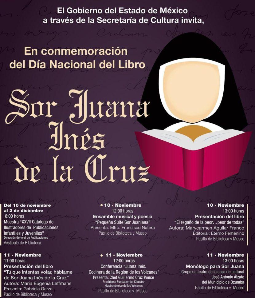 CELEBRA SECRETARÍA DE CULTURA DÍA NACIONAL DEL LIBRO DEDICADO A SOR JUANA INÉS DE LA CRUZ