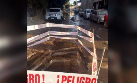 SE REGISTRA FUGA DE AGUA EN ALCALDÍA DE CDMX