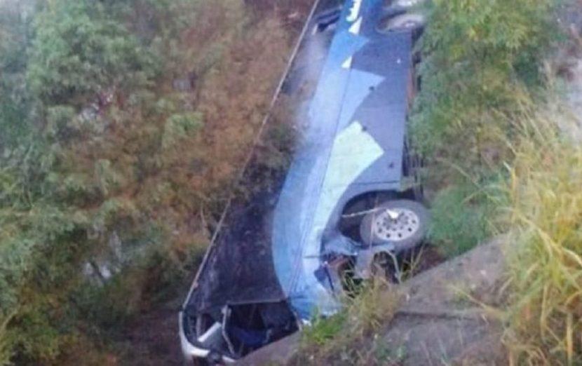 VOLCADURA DE AUTOBÚS DEJA AL MENOS SEIS MUERTOS EN NUEVO LEÓN