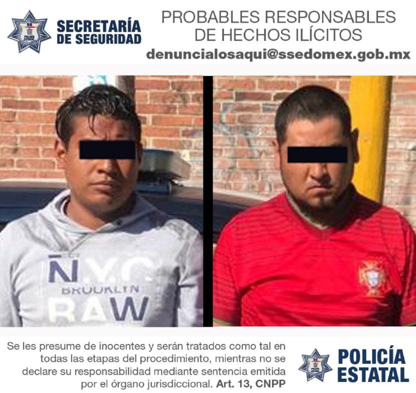 POLICÍAS ESTATALES DETIENEN A DOS SUJETOS EN POSESIÓN DE VEHÍCULO DEPORTIVO CON REPORTE DE ROBO