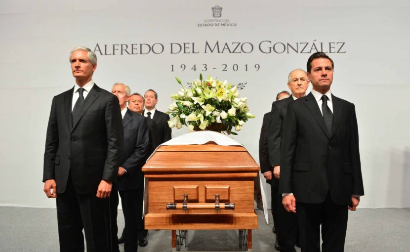 RECIBE ALFREDO DEL MAZO MAZA CONDOLENCIAS DE CLASE POLÍTICA Y SOCIAL DEL EDOMÉX, POR EL SENSIBLE FALLECIMIENTO DE SU PADRE