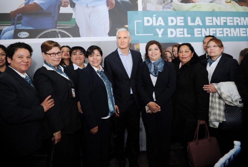 INFORMA ALFREDO DEL MAZO INCREMENTO EN EL NÚMERO DE PERSONAL DE ENFERMERAS Y ENFERMEROS EN EDOMÉX