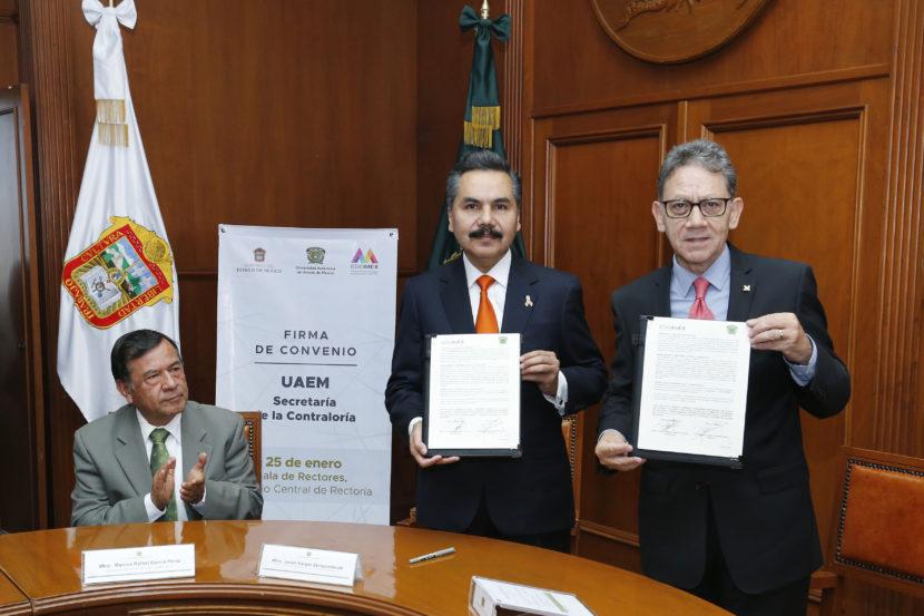 UAEM PROFESIONALIZARÁ A SERVIDORES DE LA SECRETARÍA DE LA CONTRALORÍA