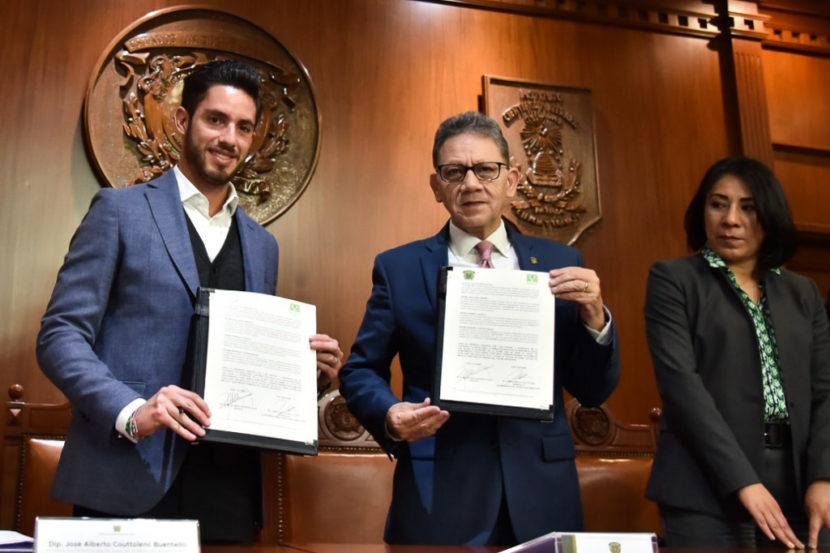 FIRMAN CONVENIO DE COLABORACIÓN DIPUTADOS DEL VERDE Y LA UAEMex