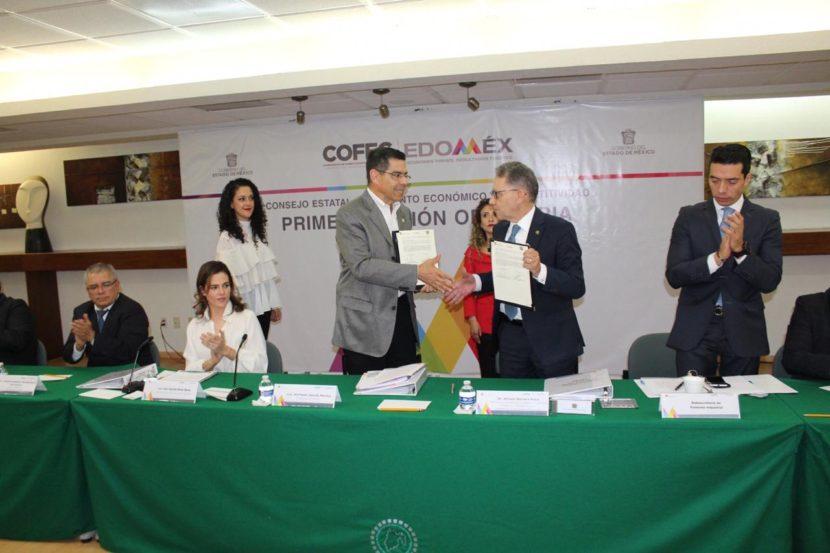 FIRMAN SEDECO Y UAEMEX CONVENIO PARA FORTALECER EL CONSEJO ESTATAL DE FOMENTO ECONÓMICO