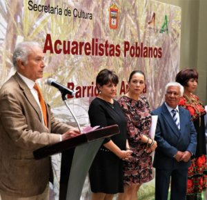COMPARTEN ACUARELISTAS POBLANOS SU OBRA ARTÍSTICA CON MEXIQUENSES