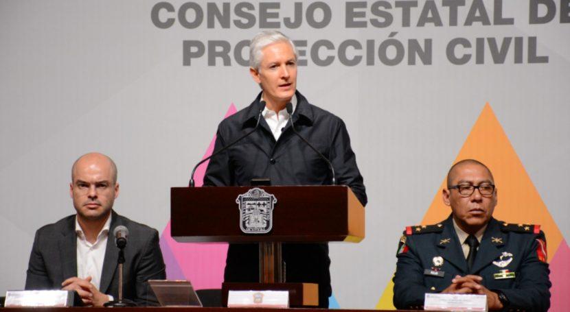 ALFREDO DEL MAZO PRESENTA ACCIONES EN MATERIA DE PROTECCIÓN CIVIL