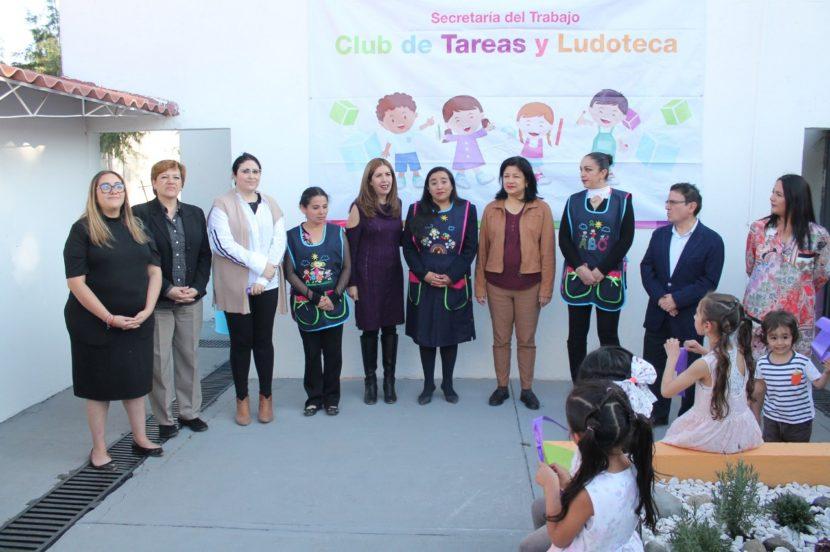 INAUGURA SECRETARIA DEL TRABAJO LUDOTECA Y CLUB DE TAREAS DEL ICATI