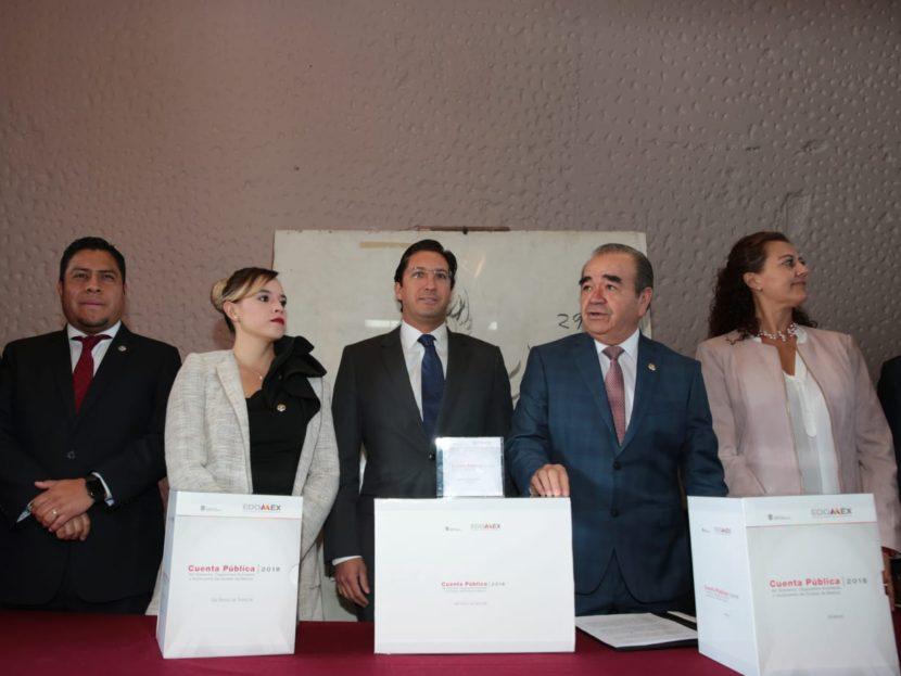 ENTREGA EJECUTIVO ESTATAL LA CUENTA PÚBLICA 2018 A LA LEGISLATURA MEXIQUENSE