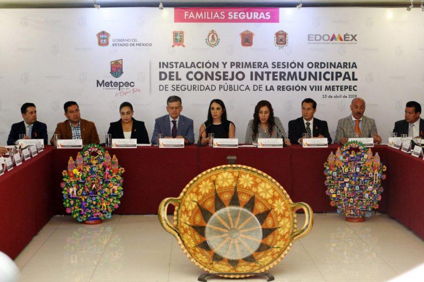 POSITIVO AVANCE DE SEGURIDAD EN METEPEC, AFIRMAN CORPORACIONES DE POLICIA FEDERAL Y ESTATAL