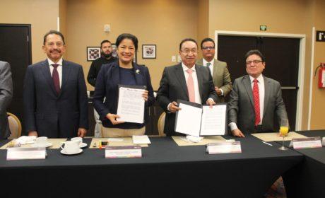 FIRMAN SECRETARÍA DEL TRABAJO Y LA CROC CONVENIO EN MATERIA DE CAPACITACIÓN